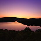 Sunset Lake Sacacomie by Yannik Hay