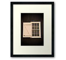 A window at Ritchie's Mill, Launceston Framed Print