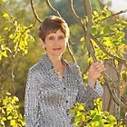 My lovely Wife Vilette On Our Property. Brisbane, Queensland, Australia. by Ralph de Zilva