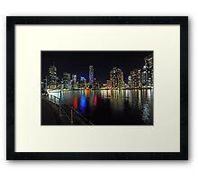 Brisbane City At Night,. Queensland, Australia. Framed Print