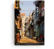 Back Street, Havana, Cuba Canvas Print