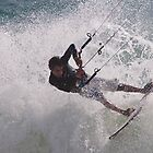White water kiting by AJM Wind+Kite