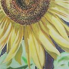 Sunflower in Pastel by Christopher Clark