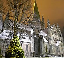 Nidaros Cathedral Under Orange by Michael Stiso