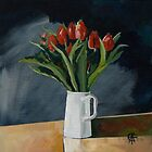 Jug of Tulips by CatSalter