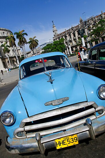 Old Blue Chevy, Havana, Cuba by buttonpresser