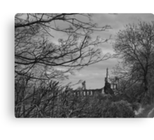 Byland Abbey from the Oldstead Road Canvas Print