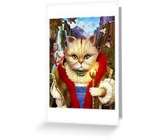 Cat King Greeting Card