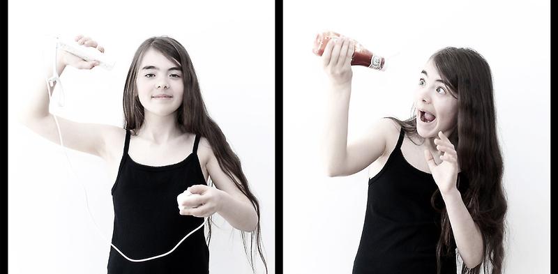 Diptych portraits in interaction #5 : wiimote by Richard Vantielcke