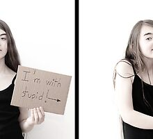 Diptych portraits in interaction #7 : I'm with stupid by Richard Vantielcke