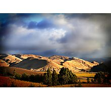 Wither Hills Autumn Afternoon Photographic Print