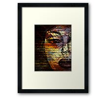 Woman on the Wall Framed Print