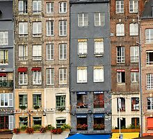 Tall buildings of Honfleur,  France by buttonpresser