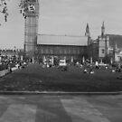 Panoramic Photograph of Parliament Square  by crashin