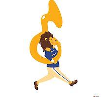 Little Kingdoms French Horn Lion by LittleKingdoms