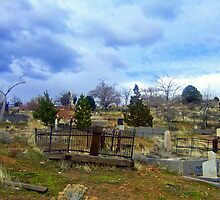 """""""Cemetery On A Hill"""" by Lynn Bawden"""