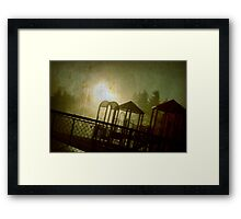 The Park at Night Framed Print
