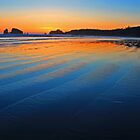 Sunset at Grenville Bay, Washington by twokonings