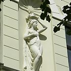 Art Nouveau Statue of Lady on Building by mikejohnson