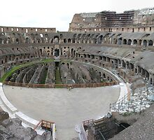 Inside the Colosseum by John Nelson