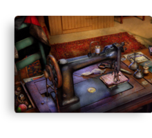 Sewing Machine - Sewing Project Canvas Print