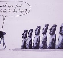 the impossible photographer (on easter island) by Loui  Jover