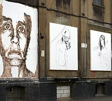Chisel face by Vhils by Respire