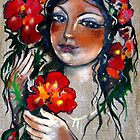 Gypsy Women with Flower by mikejohnson