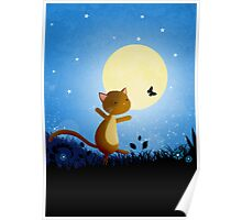 Follow your dreams - cat and butterfly Poster