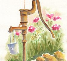 Old Country Pump by Marsha Elliott