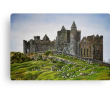 Rock of Cashel, Ireland (Carraig Phadraig) - oil painting Canvas Print