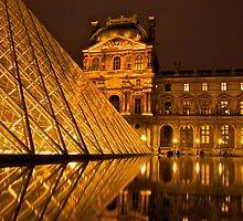 Reflections of the Musée du Louvre by James Torrington
