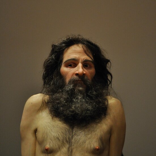 """""""ron mueck: wild man"""" by gary roberts 