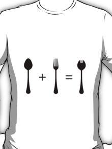 Spoon + Fork = Spork T-Shirt