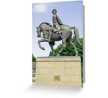 Bonnie Prince Charlie Statue, Derby Greeting Card