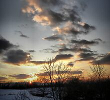 Cloudy Winter Sunset by Aaron Rodgers