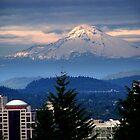 Mt. Hood and Portland by Hiroshi  Maeshiro