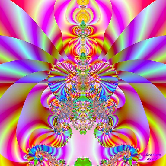 Fruit Striped Fractal by Julie Everhart