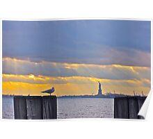 Stillness in Battery Park Poster