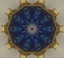 Blue Bead Kaleidoscope by Erica Long