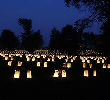 Memorial Day luminaria by Sarah J. Wheeler