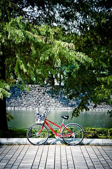 The Red Bike in Japan by John Englezos