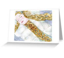 Snow Maid Greeting Card