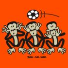 Three Wise Soccer Monkeys by Zoo-co