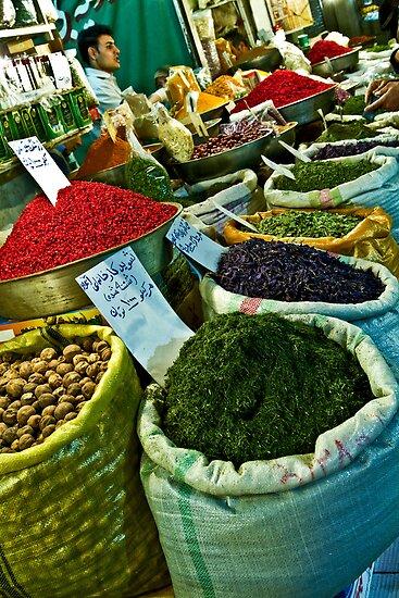 Spice Bazaar - Isfahan - Iran by Bryan Freeman