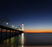 Brighton Beach At Sunset - Adelaide - South Australia by Chris Sanchez