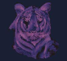 Purple tiger T SHIRT/STICKER Kids Clothes