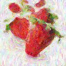 Strawberried Painting by Bea Godbee