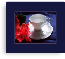 Demitasse, White Canvas Print