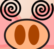 Funny Hello Piggy dazzling t-shirt  Sticker